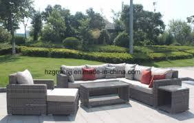 luxury round wicker sofa with storage coffee table set 0158 5mm round rattan