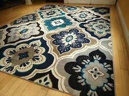 brown 5x7 area rug new modern blue gray brown rug area rug casual area home ideas