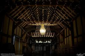 gathered canopy with chandelier