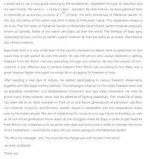 essay on gandhi jayanti in english language docoments ojazlink gandhi jayanti sch essay in english hindi urdu marathi