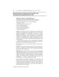 describing the entrepreneurial profile the entrepreneurial describing the entrepreneurial profile the entrepreneurial aptitude test tai pdf available
