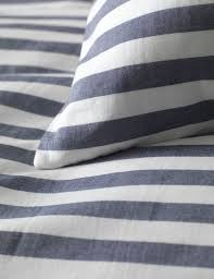 coastal stripe navy percale bedding set striped bedding in 100 cotton