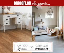 bricoflor suggests amtico spacia or gerflor creation 55 glue down vinyl flooring