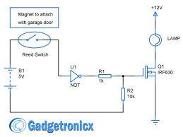 easy circuit diagram the wiring diagram garage door lights circuit diagram using reed switch not gate circuit diagram