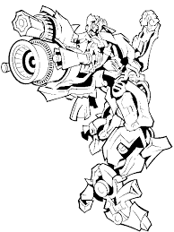 Small Picture Transformers Coloring Printable Pages