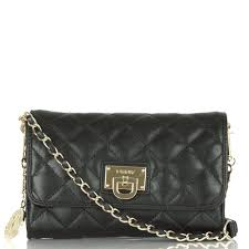 DKNY Black Quilted Nappa Leather Small Flap Crossbody Bag at Rojo & DKNY Black Quilted Nappa Leather Crossbody Bag Adamdwight.com