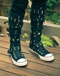 converse knee high boots. 2015 new knee high converse sneaker boots, strappy top sneakers, boots o