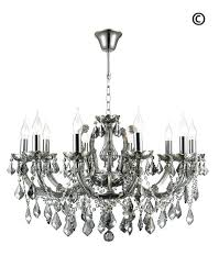 maria crystal chandelier light smoke designer grey