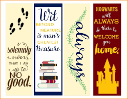 printable bookmarks with harry potter es printable and chart intended for printable bookmarks with