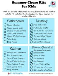 Screen Time Recommendations By Age Chart Summer Chore Kits And Screen Time Checklist For Kids Kids
