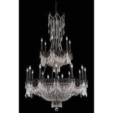 elegant lighting esperanza dark bronze 27 light chandelier with royal cut crystal
