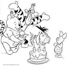 Winnie The Pooh Coloring Pages Coloring Pages For Kids Disney