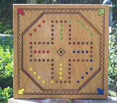 Wooden Aggravation Board Game Aggravation game board w marbles and Dice WoodDesigner 46