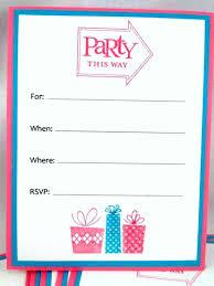 Blank Birthday Invitations Blank Birthday Invitations By Means Of