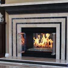 stainless steel fireplace hburner kit