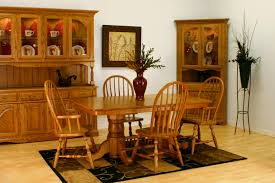 Furniture Amish Dining Room Furniture Of  Piece Dining Set And - Dining room table and china cabinet