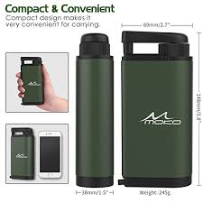 MoKo Portable Water Filter Emergency Personal Camping Water