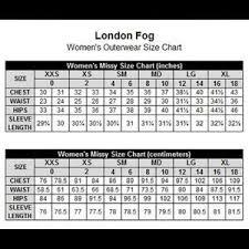 London Fog Womens Coat Size Chart Www Bedowntowndaytona Com