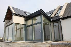 Home Interiors:Modern House With Glass House Extension Ideas Modern Glass  House Extension Design Ideas