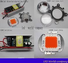 Diy Light Kit Us 10 25 6 Off 5kit 2016 New Indoor Diy Led Grow Light Kit 100w Full Spectrum Led Non Waterproof Led Driver Led Grow Chip Lens And Reflector In