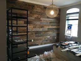 hoboken reclaimed barn wood master bedroom accent wall