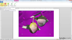 Word Backgrounds Microsoft Word Tutorial How To Edit Picture Backgrounds Lynda Com