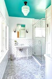 bathroom ceiling dip a toe into bold color painted ceilings in the bathroom apartment therapy bathroom bathroom ceiling