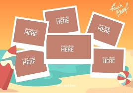 Beach Photo Collage Template Download Free Vector Art Stock Word