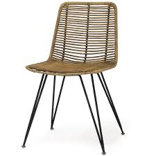 palecek dining chairs. palecek hermosa side chair - natural dining chairs