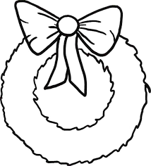 Small Picture Simple Christmas Wreaths with Ribbon Coloring Pages Coloring Sun