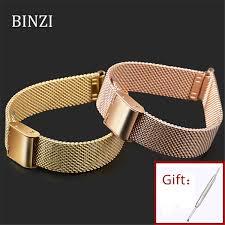 rose gold milanese stainless steel watch band 14mm milan mesh rose gold watch strap 14mm bracelet