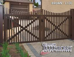 brown vinyl fence panels. Illusions PVC Vinyl Fence Photo Gallery Brown Panels