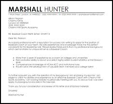 Cover Letter For Basketball Coaching Position Baseball Coach Cover Letter Magdalene Project Org