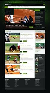 Baseball Websites Templates Baseball Website Themes Templates Free Premium Endear Youth Websites