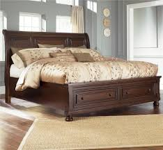 Ashley Furniture Porter California King Sleigh Bed with Storage
