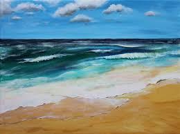 easy acrylic painting on canvas seascape acrylic seascape acrylic painting on canvas 12 inches by