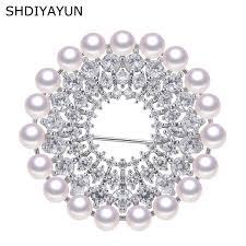 2019 <b>SHDIYAYUN New</b> Big Sale <b>Pearl</b> Brooch For Women Many ...