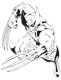 Small Picture Wolverine From X Men Cartoon Coloring Page Free Printable