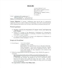 Fresher Resume Format For Engineers Resume Sample Source