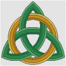 Celtic Knot Embroidery Designs Trinity Celtic Knot Cowbell Cross Stitch