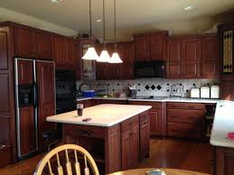 Oak Cabinets Stained Dark Faux The Love Of It Kitchen And Furniture Refinishing With Paint