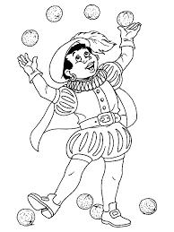 Sint Kleurplaten Piet Met Pepernoten