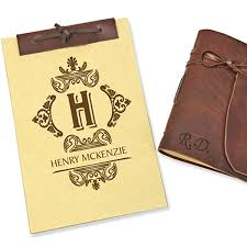 genuine leather bound journal or antique style notebook from monogram up to 83 off