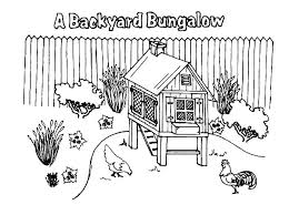 Small Picture A Backyard Bungalow Chicken Coop Coloring Pages NetArt