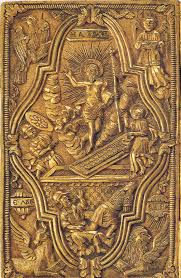 gold book cover christ like world card mt athos 19th c