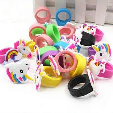 <b>10pcs</b> Rainbow <b>Unicorn</b> Party Decoration Unicornio Rubber Ring ...