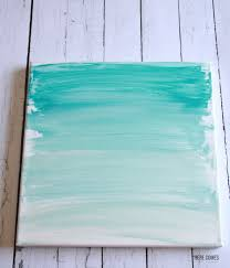 This Ombre Canvas Art is so beautiful and so easy to make. Customize it with