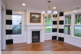 diy black and white horizontal striped dries 4