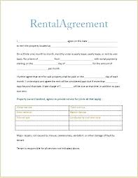 Standard Rental Agreement Template Printable Rent Lease Agreement Forms Download Them Or Print