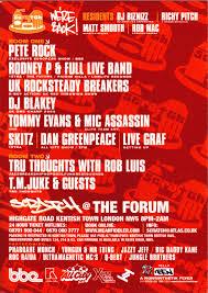 flyers forum scratch pete rock the forum